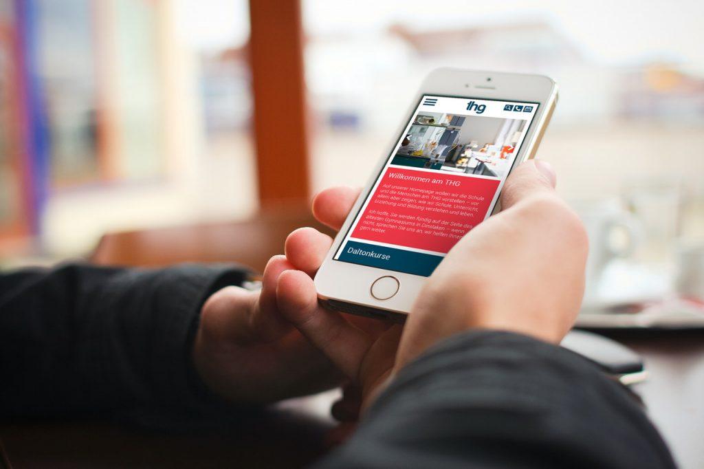 THG Webseite auf dem Smartphone